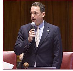 Senator Doyle introduces a bell in the senate