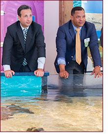 Senator Duff at Maritime Aquarium