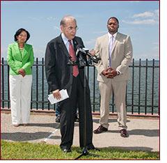 Senator Looney at Sea Wall