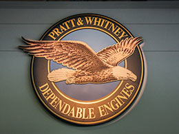 Pratt and Whitney logo.