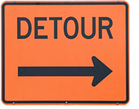 Detour sign