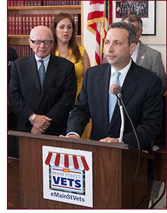Senator Duff at Vets Small Biz press conference