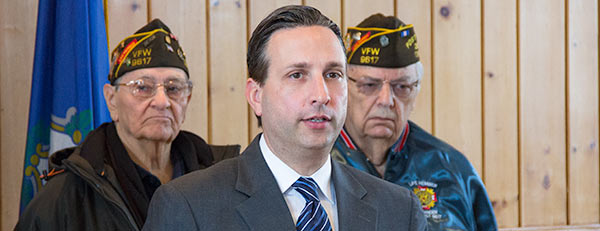 Senator Duff with veterans.