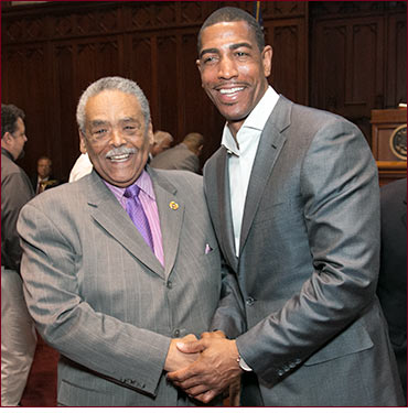 Senator Gomes and Coach Kevin Ollie