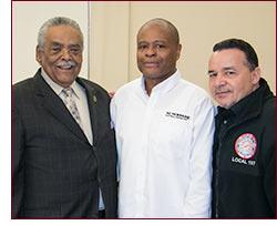 Senator Gomes with small businessmen