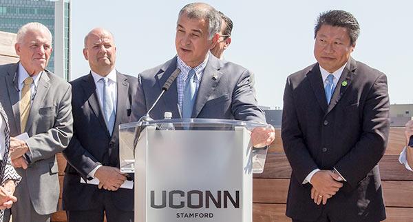 Senator Leone at UConn Stamford.