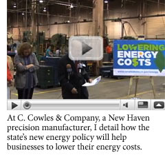 YouTube video of Senator Looney on energy savings