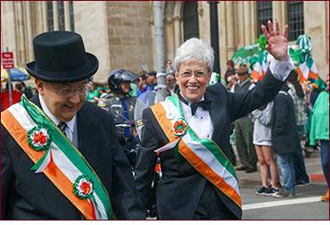 Sen. Looney in ST. Pat's Parade