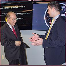 Senator Looney visits tech business