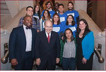Senator Looney with Dreamer students