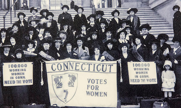 Connecticut women vote