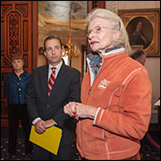 Senator Duff tours the Lockwood-Mathews Mansion Museum