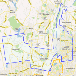 5th senate district Google map