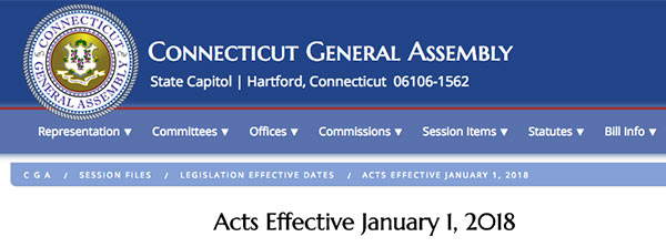 Acts effective January 1, 2018