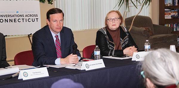 Senator Gerratana with Senator Murphy