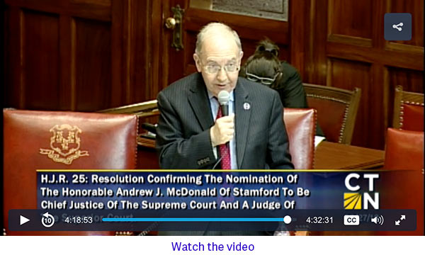 video of Senator Looney
