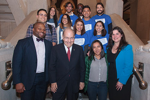 photo of Senator Looney with Dreamers
