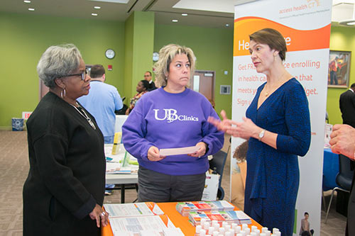 photo of Senator Moore at health fair